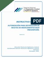 IE-E.2.2-MG-03 Instructivo Externo Destrucción Recetas SOCIALIZACIÓN