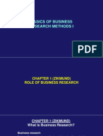 Basics of Business Research Methods i