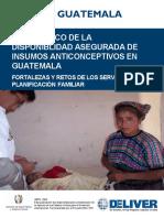 Dx de Disponibilidad Asegurada de Insumos de Anticoncepción - Guatemala