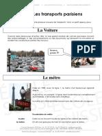 Les Transports a Paris