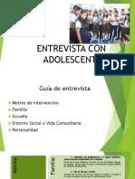Presentacion Entrevista Con Adolescentes
