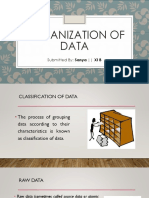 Organization of Data