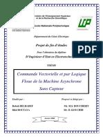 Commande Vectorielle et par Logique Floue de la Machine Asynchrone Sans Capteur.pdf