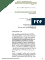 Discurso Visual - Espacio Público_ Territorio en Disputa