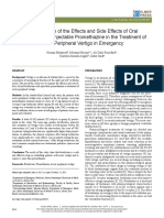 A Comparison of the Effects and Side Effects of Oral