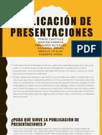Publicación de Presentaciones