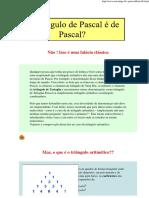 O Triângulo de Pascal é de Pascal
