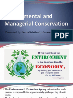 Environmental and Managerial Conservation