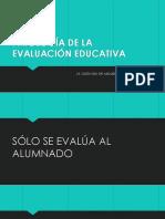 PATOLOGÍA DE LA EVALUACIÓN