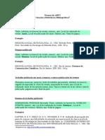 Normas Da ABNT - Modelo Para Citações de Referências