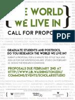 Scholars' Studio W18 CFP