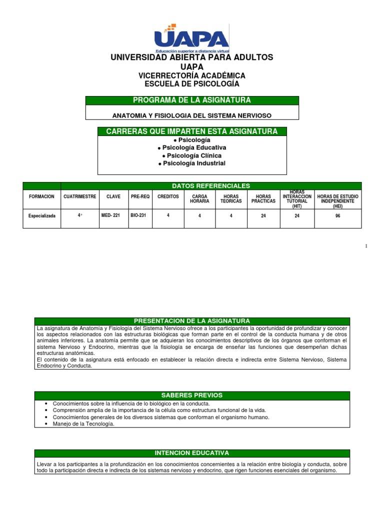 Med221 Anatomia y Fisiologia Del Sistema Nervioso (1)