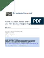 Law - 2000 - Comment on Suchman Gherardi Nicolini