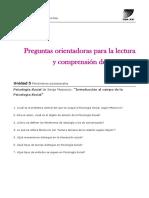 Guía de Lectura. Moscivici