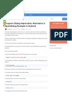 Progress Dialog Deprecated, Alternative is SpotsDialog Example