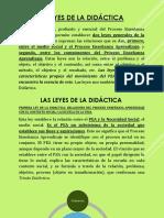 Leyes de La Didáctica