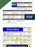 Calendario Matemático Bloque II - 3er Grado
