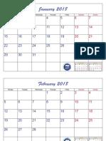 Monthly Calendar 2018 Template 8