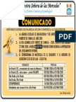 Comunicado CRONOGRAMA