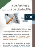 Lengua - Manejo de Fuentes y Sistema APA