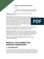 Museo y Comunidad