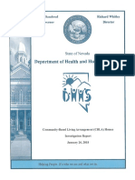 Nevada CBLA Homes Investigation Report