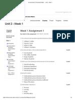 Assignment 1 Week 1