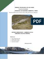 Estudio Hidrologico Subcuenca Oropesa