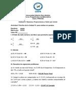 PRACTICA - Unidad IV Razones, Proporciones y Tanto Por Ciento - Copia