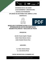 Modelo Gravimétrico 2.5D - Grupo 3 - Diplomado 2016