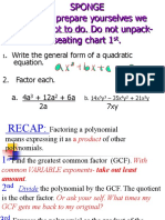 factoring and solving quads by factoring 1