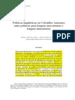 Políticas Lingúísticas en Colombia