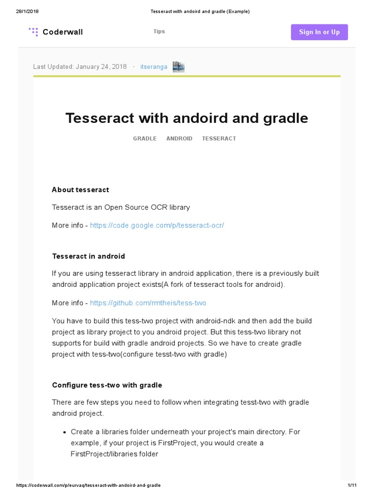 Tesseract With Andoird and Gradle (Example) | Android