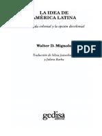 Mignolo, Walter - La idea de América Latina
