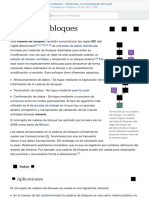 Cadena de Bloques - Wikipedia, La Enciclopedia Libre