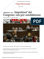 26-01-18 Salen 15 Chapulines Del Congreso; Van Por Candidaturas