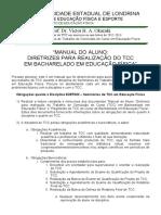 Manual Do Aluno - TCC Bacharelado Em EdF