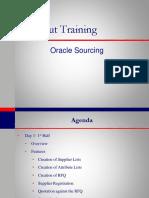 Oracle Sourcing v11