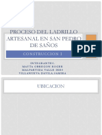 Proceso Del Ladrillo Artesanal en San Pedro De