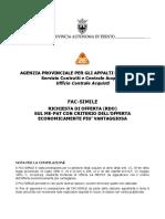 Rdo Fac Simile Offerta Economicamente Pi Vantaggiosa v1.1417515457