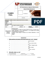 Modelo de Examen Final-Ingles 3