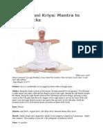 Mandhavani Kriya Mantra to Clear Blocks