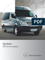 2014 Mercedes Benz Sprinter Service Information