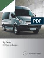 2014 Mercedes Benz Sprinter Service Information
