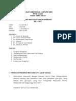 Minit Mesyuarat PMT Kali Ke 3 2017