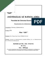 Programa de la materia Sistemas Administrativos. Catedra Gomez Fulao
