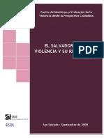El Salvador. Mapa de Violencia y Su Referencia Historica MODELO de INVESTIGACION