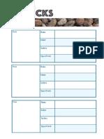 Rocks Classification Sheet