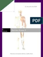 Resumo para Exame teórico de anatomia II