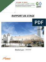 Rapport de Stage Oncf